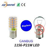 цена на Amywnter 12V 1156 BA15S p21w led canbus PY21W Turn Signal Running Lights P21/5W 1157 Brake Lights Bulbs Car Light Source