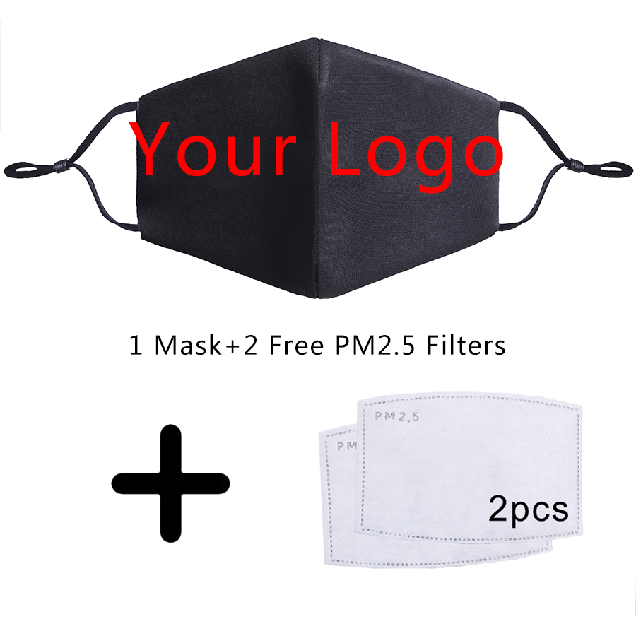 Custom Made Your Logo Mask Any Design Style Reusable  PM2.5 Free Filter 3D Anti Dust Face Mouth Proof Flu Masks