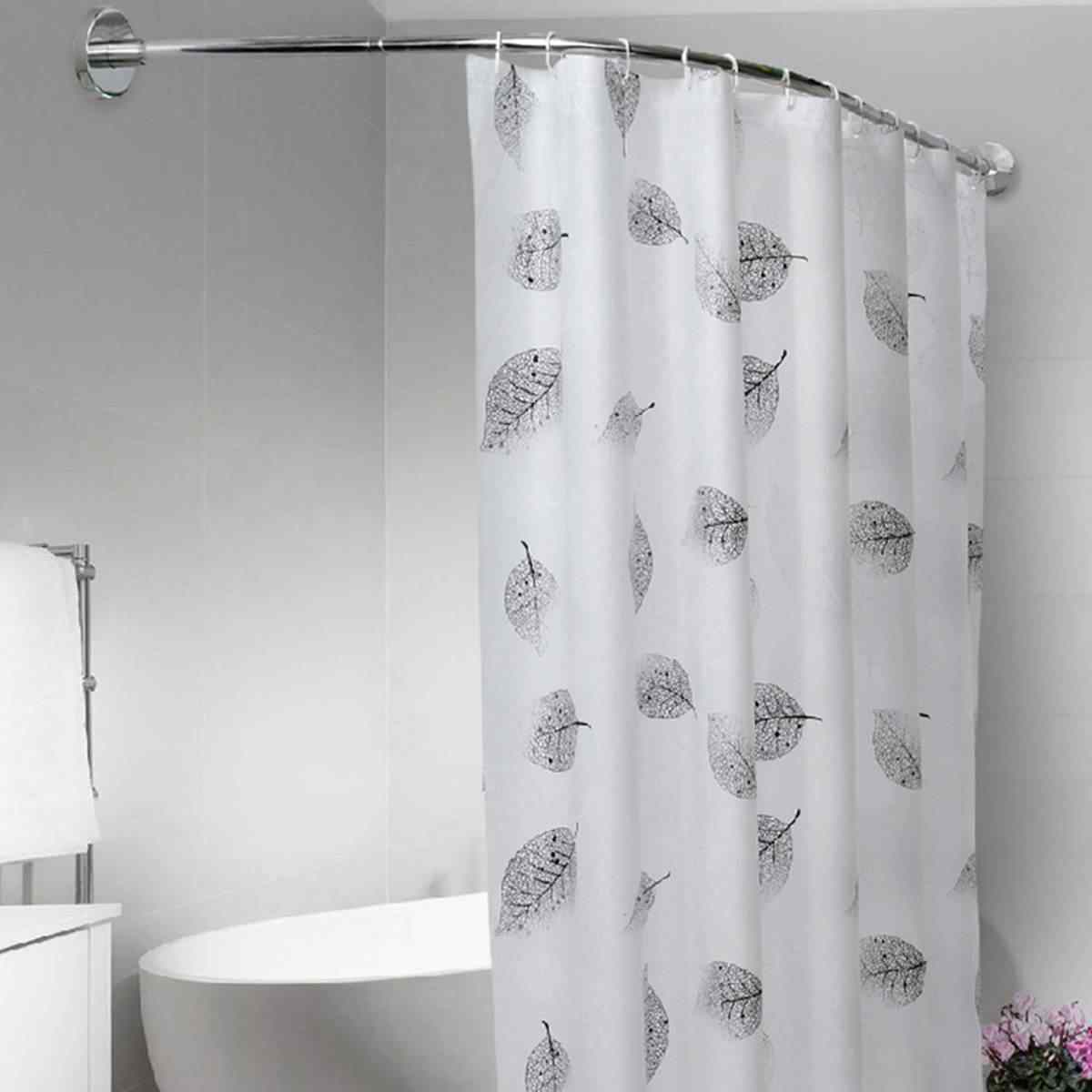extendable curved shower curtain rod u shaped 201 stainless steel shower curtain poles punch free bathroom curtain rail 6 size