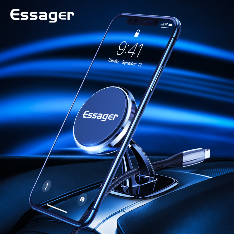 Essager Magnetic Car Phone Holder For iPhone Universal Car Holder for Phone in Car Magnet Mount Cell Mobile Phone Holder Stand(China)