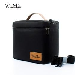 Winmax, Заводская розетка, черная термоизолированная Повседневная коробка-сумка для обеда, наборы, портативная еда, свежая, большой контейнер ...