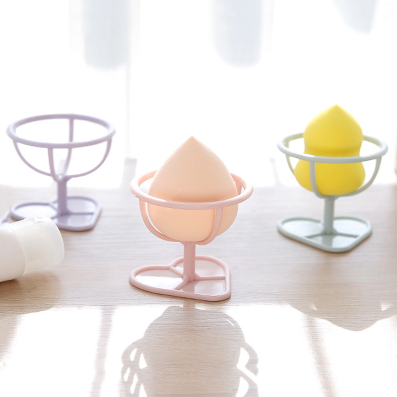 1 PC Beauty Makeup Liquid Foundation Powder Egg Puff Stand Shelf Tool Kits Product Storage Holders Racks Random Color Dropship