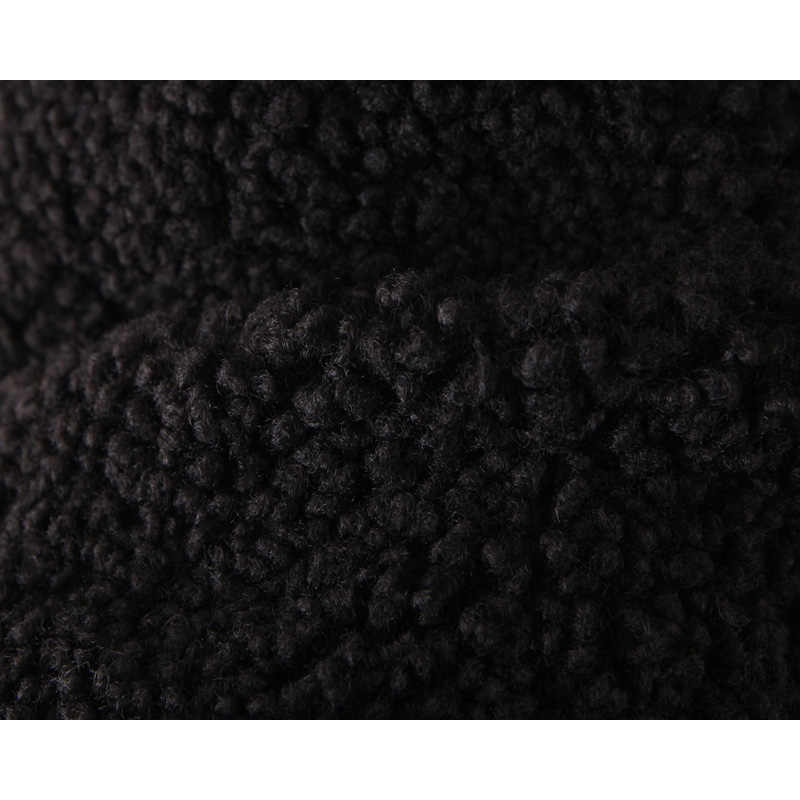 Moda za casaco feminino 2019 inverno falso de peluche lã sólida gola lapela casacos manga longa solta outwear jaqueta feminina senhoras