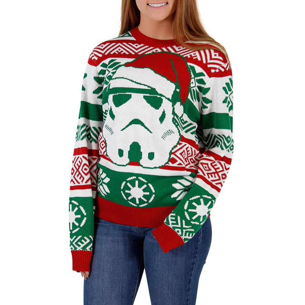 Christmas Sweater Gift Casual Women Men Winter Xmas Santa Claus Print Sweaters Unisex Knitted Pullovers Fashion Couple Sweaters