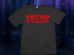 Trump shithole camisa fazer américa grande novamente camisa o estranho de cabeça para baixo thi