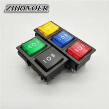 1Pcs KCD4 Rocker Switch Power Switch ON-OFF-ON 3 Position 6 Electrical equipment With Light Switch 16A 250VAC/ 20A 125VA kcd4 203 20a 250vac 30x22 waterproof rocker switch 6pin dpdt on off on 12v 220v red green led light rocker switch