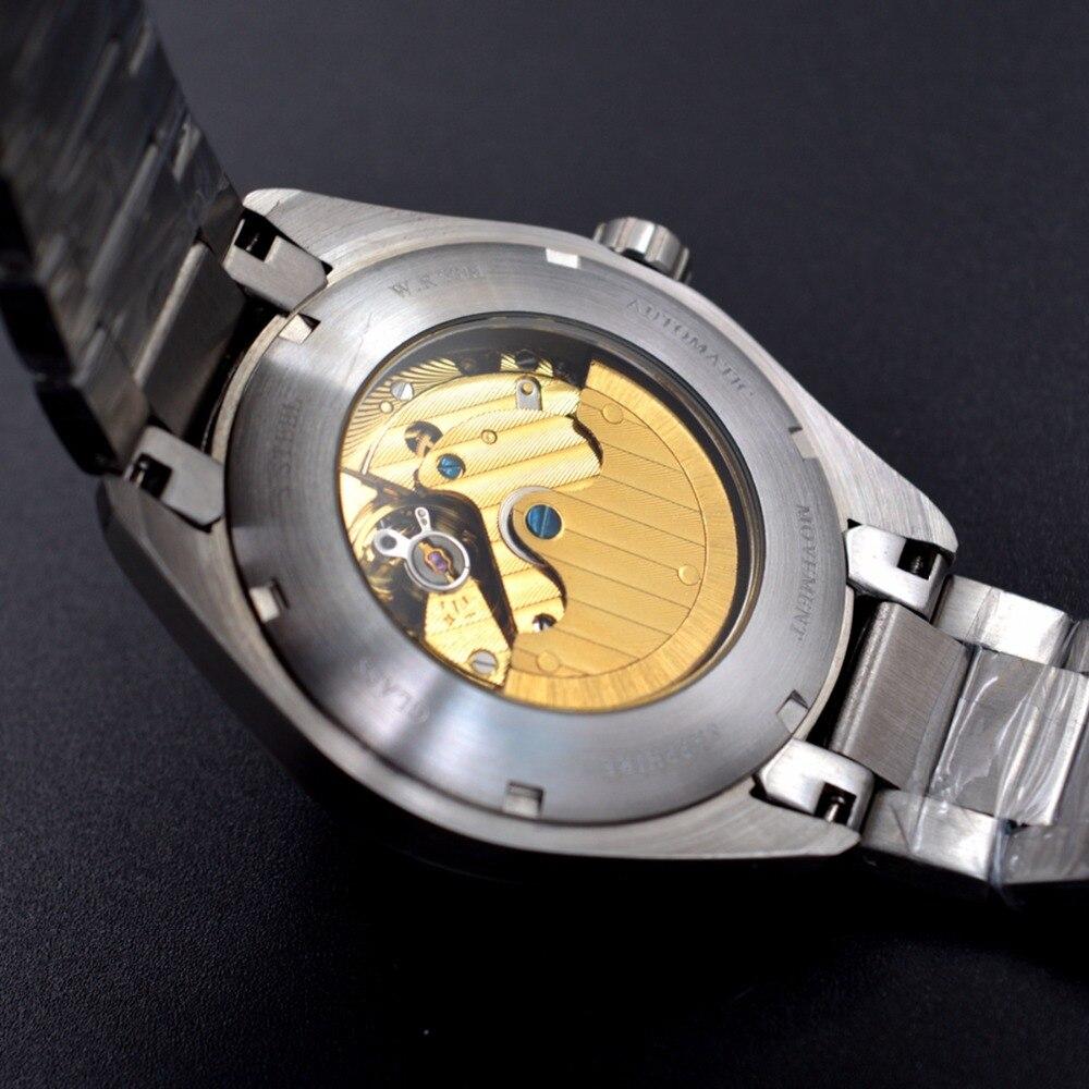 Corgeut 41mm montre hommes de luxe automatique montre à remontage automatique militaire en acier inoxydable lumineux étanche mécanique mâle montre bracelet - 6