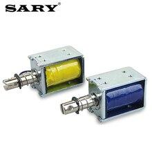 цена на Small electromagnet DC 12V24V miniature push-pull electromagnet push rod tool 10mm stroke 5N holding force 1 pcs