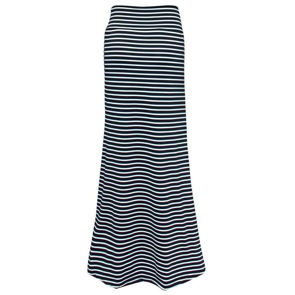 גבירותיי אופנתי ארוך צועני ג 'רזי Bodycon מקסי חצאית נשים אופנתי קיץ חצאיות בגדי הולך Lunga A4
