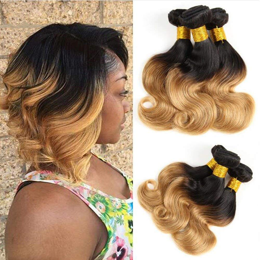 SAY ME Body Wave Bundles 1B/27 And 1B/30 Blonde Bundles Ombre Brazilian Hair Weave Bundles Bob Remy Human Hair 3 Bundles Deal
