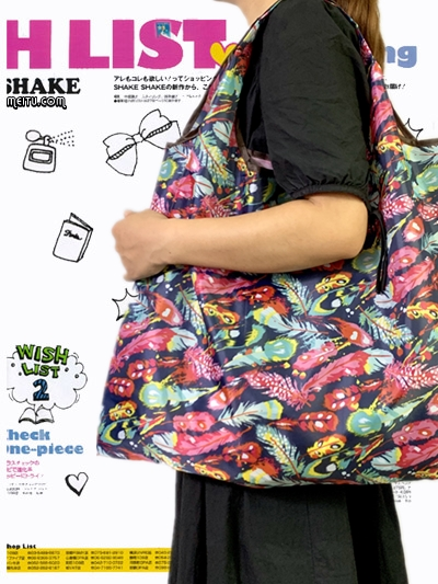 Tote Recycle Green Shopping Bag Lady Foldable Oxford Cloth Reusable Fruit Grocery Pouch Organization Bags Cartoon Floral