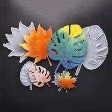 Черепаха лист/кленовый лист зеркало силиконовая форма diy помадка