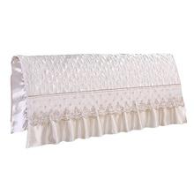 النمط الأوروبي الحرير تشبه غرفة نوم اللوح الأمامي للسرير غطاء حامي السرير البيج