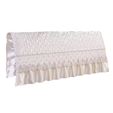 Europäischen Stil Seide wie Schlafzimmer Bett Kopfteil Schutzhülle Protector Bett Beige