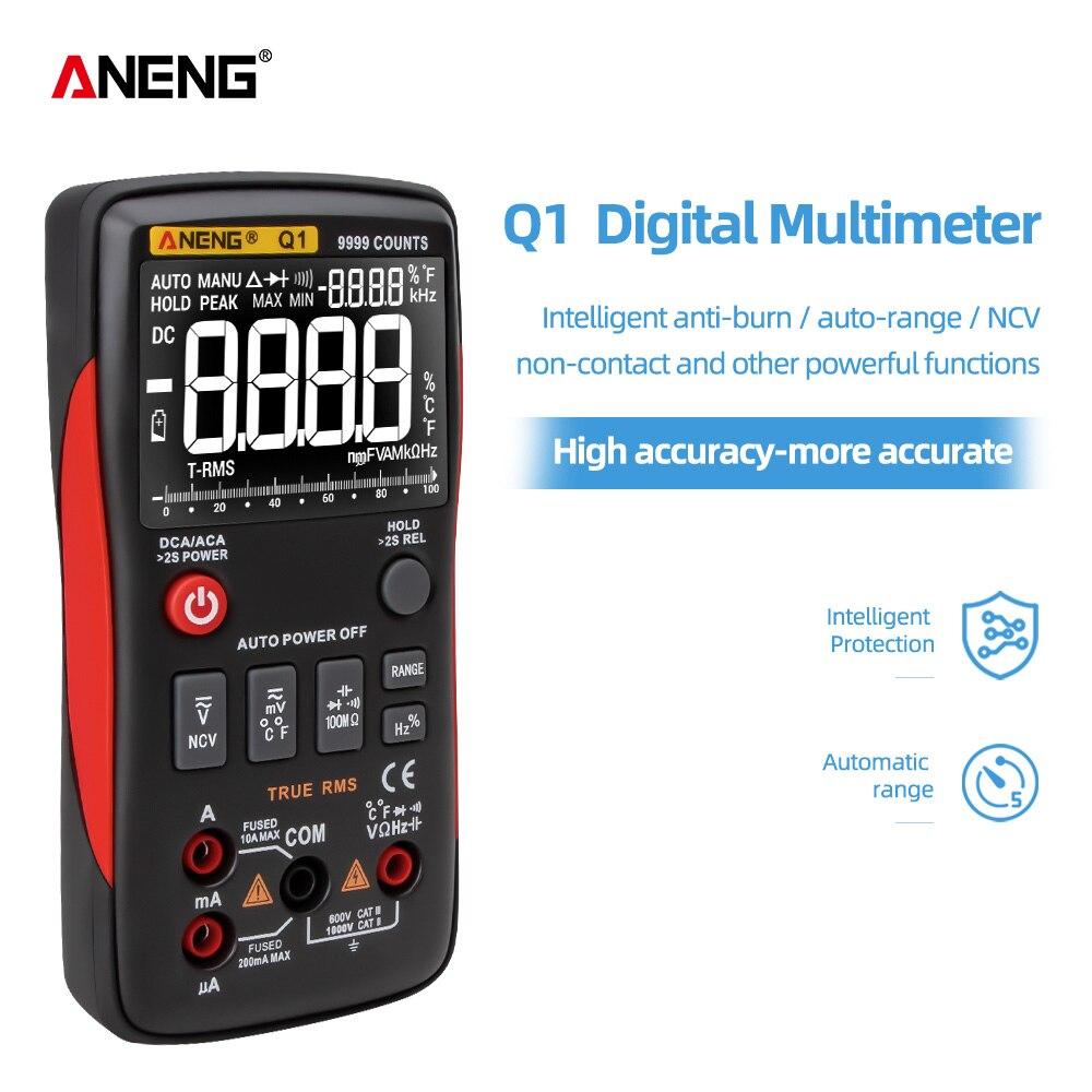 Electrical Digital Resistor Testers ANENG Tester True Automotive Multimeter Transistor Esrmeter Meters Dmm Q1 RMS Peak