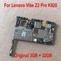 100% протестированная Рабочая оригинальная материнская плата для Lenovo Vibe Z2 Pro K920 3 ГБ 32 ГБ материнская плата чипсеты микросхемы гибкий кабель