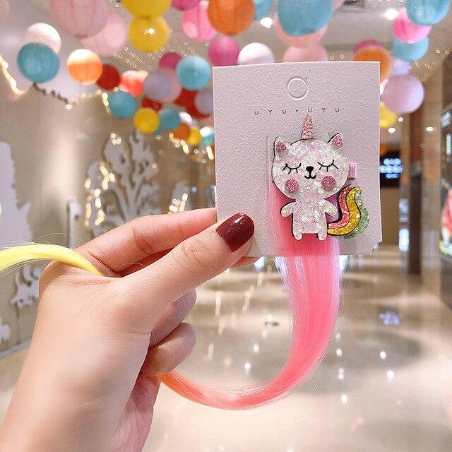 Фото 2020 милая красочная заколка для волос милая детская пряжка