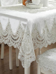 Chair-Cover Table-Cloth Lace Rectangular Luxury European Wedding-Cloth-Cover Proud Rose