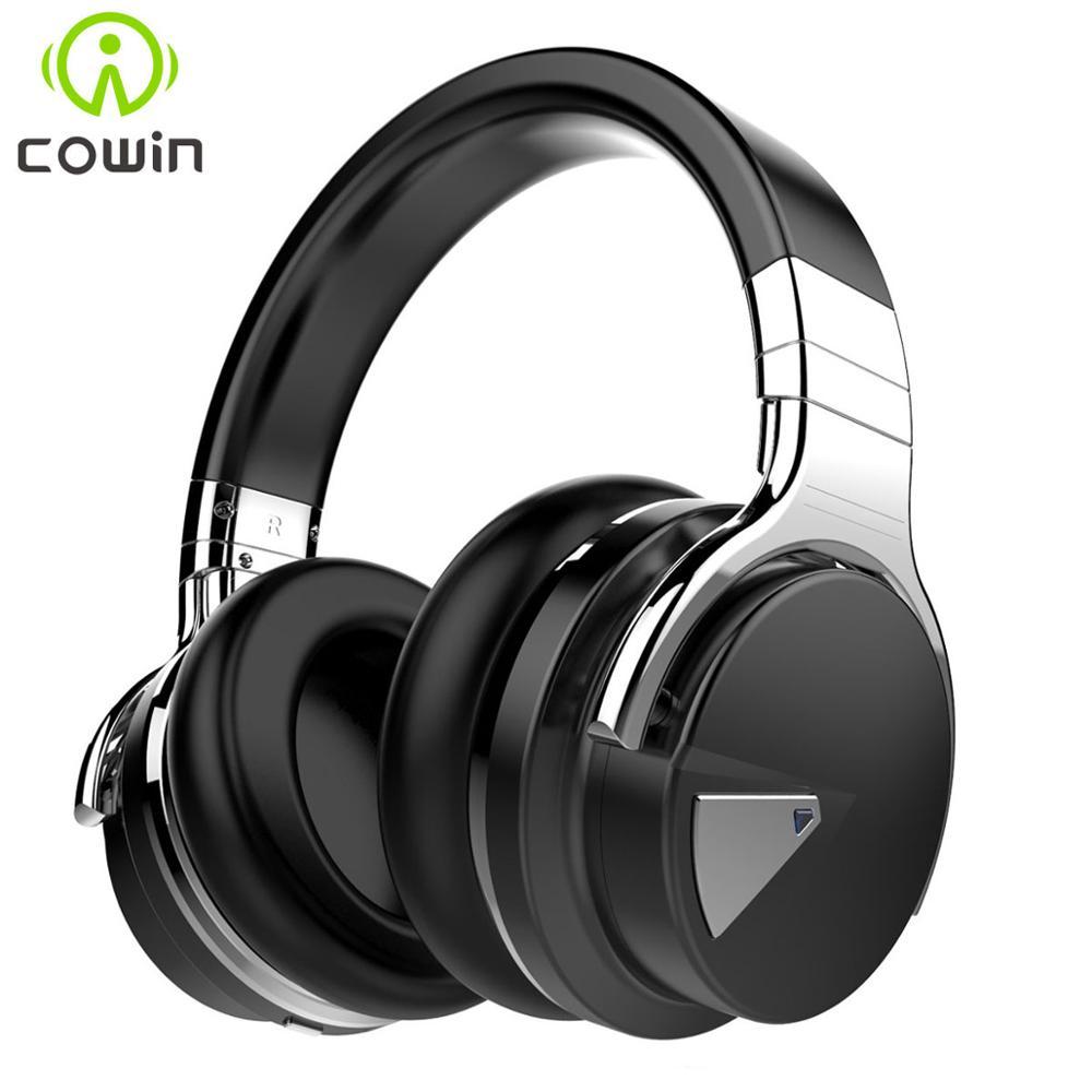 Cowin E7[Upgraded] ANC Bluetooth Headphones Active Noise Cancelling Wireless Headset Hifi Deep Bass Earphones with Microphone|Bluetooth Earphones & Headphones| - AliExpress