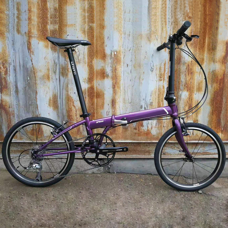 20 inch 406 Folding Bike Bicycle 9 Speed Urban Commuter Bicycle BMX V Brake Bike
