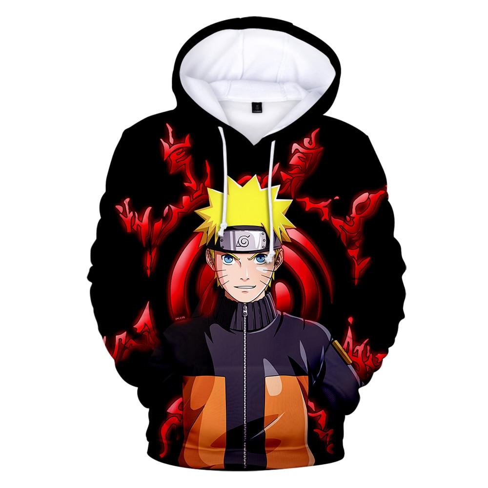 New Arrival Naruto 3D Hoodie Boys/Girls High Quality Autumn Winter Fashion Popular Anime Hoodie 3D Print Naruto Mens Sweatshirt