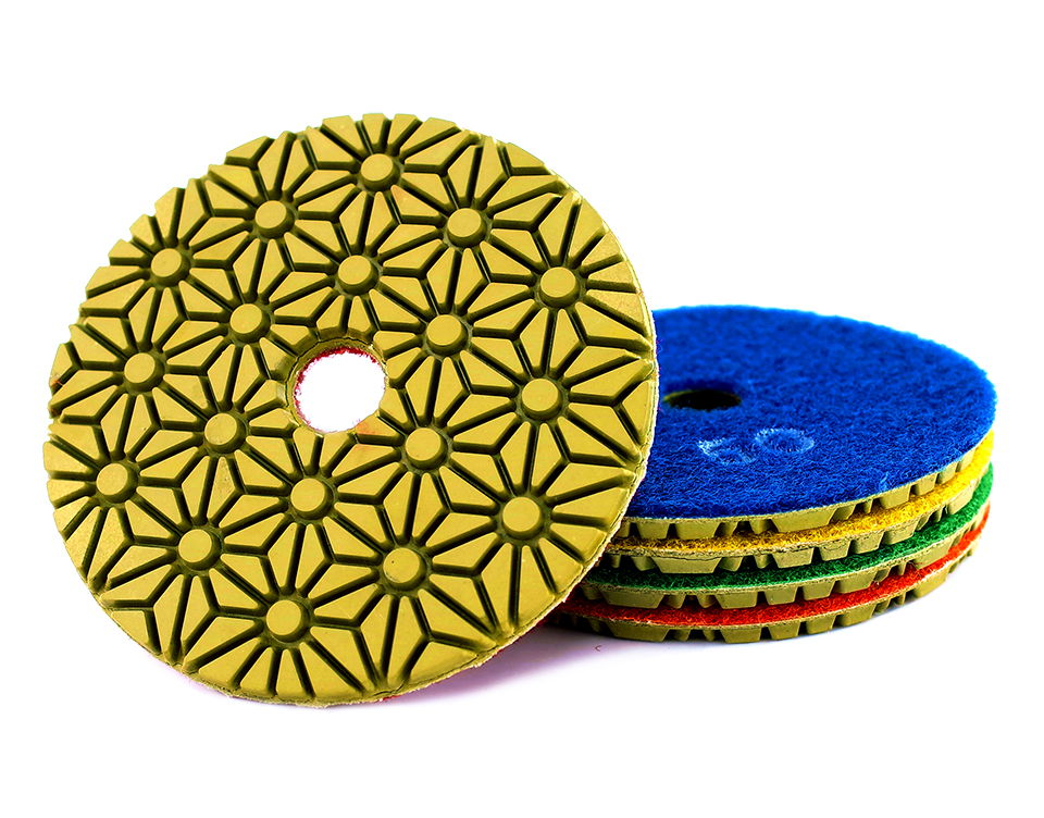 Diamond polishing pads 100mm flexible wet concrete floor polishing pad for granite marble Grinding Disc - 5PCS 4inch