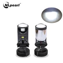 NLpearl araba kafa lambası ampulleri 20000LM H4 LED Canbus projektör Lens Automobles dönüşüm kiti Hi/Lo huzmeli far 12V/24V RHD LHD