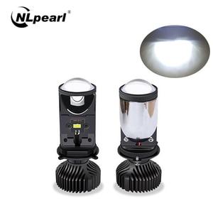 Image 1 - Nlpearl carro farol lâmpadas 20000lm h4 led canbus lente do projetor kit les kit de conversão oi/lo feixe farol 12v/24v rhd lhd