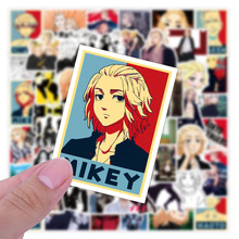 50 PCS Tokyo Revengers Stikers Anime Manjiro Sano Ken Ryuguji Mikey Draken Keisuke Baji Takashi Mitsuya PVC Stickers for Kid Toy