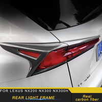 For LEXUS NX200 NX300 NX300h 2018 2019 Car Styling Rear Light Cover Real Carbon Fiber Trim Frame Sticker Accessories