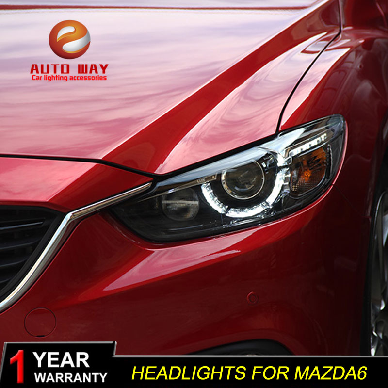 Car Styling for <font><b>Mazda</b></font> Atenza Mazda6 <font><b>Headlights</b></font> 2014 2015 2016 LED <font><b>mazda</b></font> <font><b>6</b></font> <font><b>Headlight</b></font> DRL Lens Double Beam HID <font><b>Xenon</b></font> Accessories image