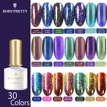 BORN PRETTY Chameleon Gel Nail Polish Peacock Holographic 6ml Soak Off UV Long Lasting Art Varnish Manicure
