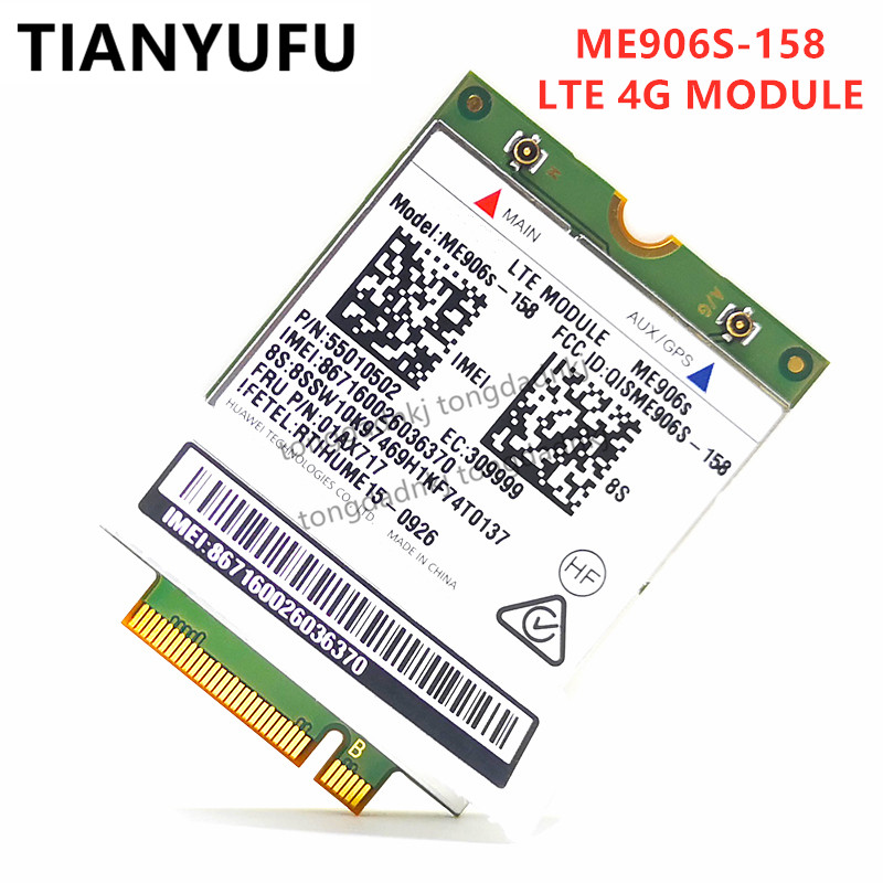 Para Thinkpad L460 L560 X260 T460 T460P T460S T560 P50S X1-TABLET ME906S ME906S-158 FRU 01AX717 Qua-band DC-HSPA 4G Cartão LTE