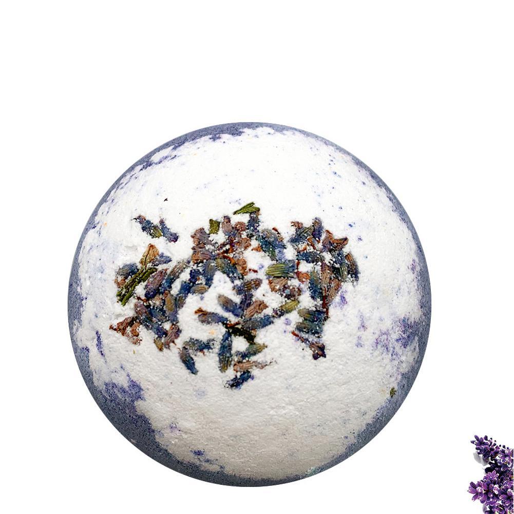 VIBRANT GLAMOUR Lavender Deep Sea Bath Salt Body Cleansing Essential Oil Bath Ball Natural Bubble Bombs Ball Beauty Supplies
