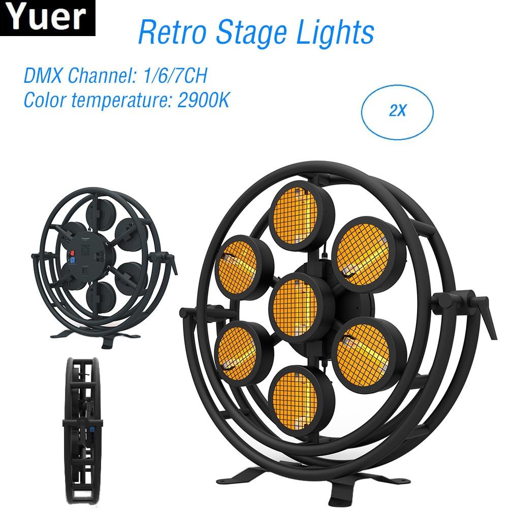 2Pcs/Lot Hexagon / Round 7x300W Retro Flash Light Sound DMX Control DJ light  Disco Club Bar Equipment Party Stage Effect Light|Stage Lighting Effect| -  AliExpressAliExpress