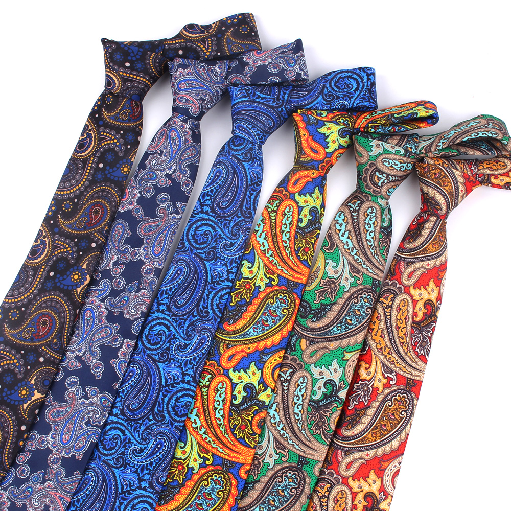 Fashion Floral Print Tie For Men Women Skinny Neck Tie For Wedding Casual Mens Neckties Classic Suits Slim Neck Ties Cravat