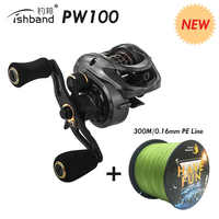 2019 Fishband PW100 (GH100 Pro) Baitcasting Reel Carp Bait Cast Casting Fishing Reel For Trout Jigging Pesca Bass Fishing Tackle
