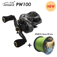 2019 Fishband PW100 (GH100 Pro) Baitcasting Reel Carp Bait Cast Casting Fishing For Trout Jigging Pesca Bass Tackle