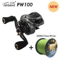 2019 Fishband PW100 (GH100 Pro) carretel de arremesso Carpa Isca Elenco Carretel De Pesca De Fundição Para Jigging Pesca Da Truta Pesca do Robalo Atacar