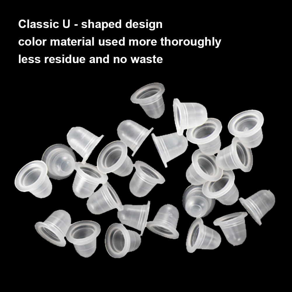 400pcs Silicone Tattoo Ink Cup Big Small For Permanent Tattoo Makeup Eyebrow Makeup Pigment Container Cups Disposable Accesories