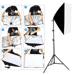 Image 5 - 写真ソフトボックス照明キット 50 × 70 センチメートルプロ連続光システムのためのフォトスタジオ機器 2 メートル三脚