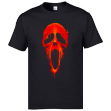 Red Bloody Scream Skull Hallowmas Tshirt Friday the 13th 100% Cotton Crewneck Cheap Man T Shirt Comfortable Tops Men