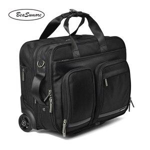 Image 4 - BeaSumore roulettes valise pour hommes, multifonctions, 16 pouces, pour bagages, pilote dentreprise pochette dordinateur