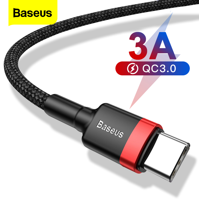 Baseus USB Type C Cable For xiaomi 10 Pro redmi 8 USB C Mobile Phone Cable Fast Charging Type C Cable for USB Type-C Devices 1