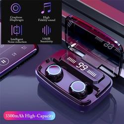 TWS Bluetooth 5.0 Earphones 3300mAh Charging Box Wireless Headphone 9D Stereo Sports Waterproof Earbuds Headsets With Microphone