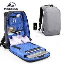 Kingsons mochila unissex pequena, mochila pequena e de bolso para laptop 13.3 15.6 e Polegada, ideal para viagens e uso executivo