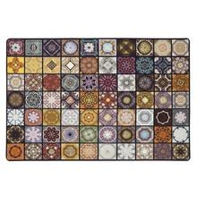 ファッション寄木細工イスラム教徒リビングルームヴィンテージアメリカン敷物ノンスリップ床のためのカスタマイズ可能なドアマット