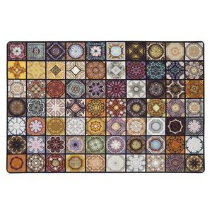 Image 1 - Fashion Parquet Muslim carpet for living room Vintage American Rug non slip floor mat for bedroom customizable Door Mat