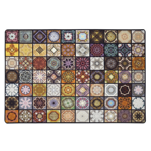 Fashion Parquet Muslim carpet for living room Vintage American Rug non slip floor mat for bedroom customizable Door Mat