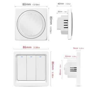 Image 2 - Tuya wifi remote control light switch EU Wall button smart switchs Support Alexa, Google Home, Voice Control switch
